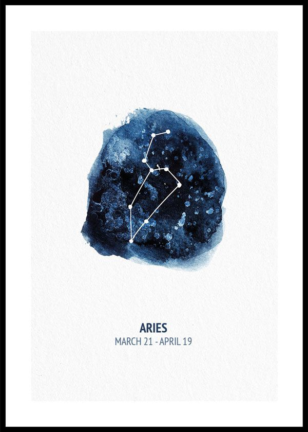 Zodiac sign Aries - poster