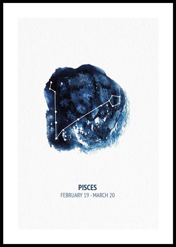 Zodiac sign Pisces - poster