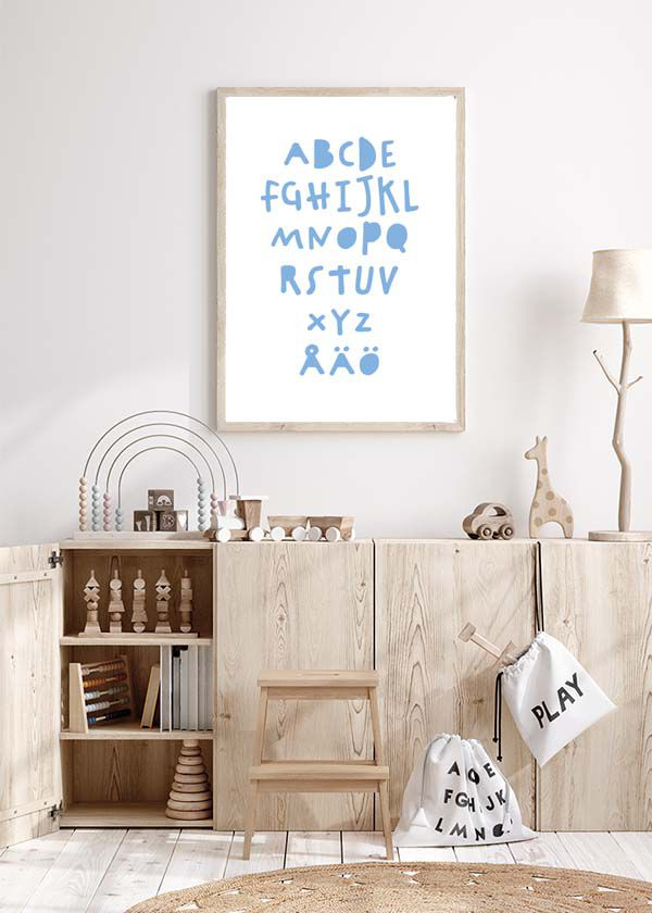 ABC poster - blue